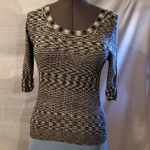Apt. 9 sweater, black and white, RN# 73277
